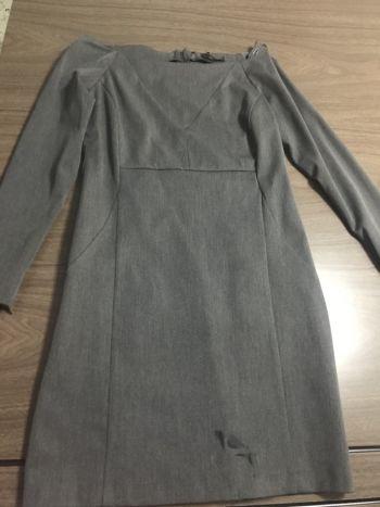 Vestido Gris MangaLarga