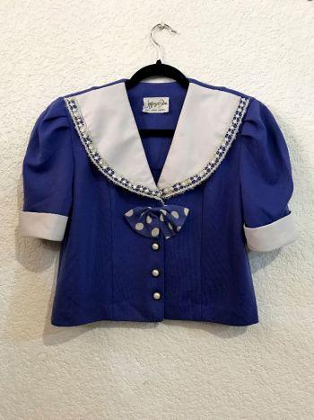 Blusa crop top con moño