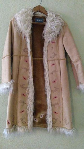 Abrigo largo gamuza Camel