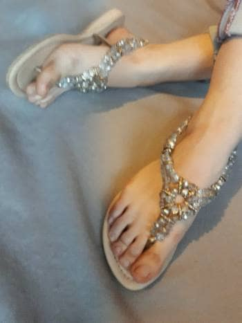 Divinas Sandalias con Aplicacion de Cristal