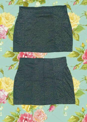 2x1 Mini falda negra animal print