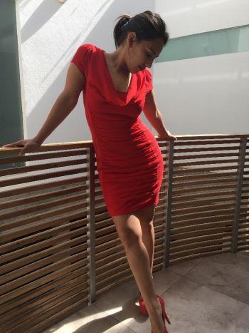 NUEVO Vestido rojo drapeado