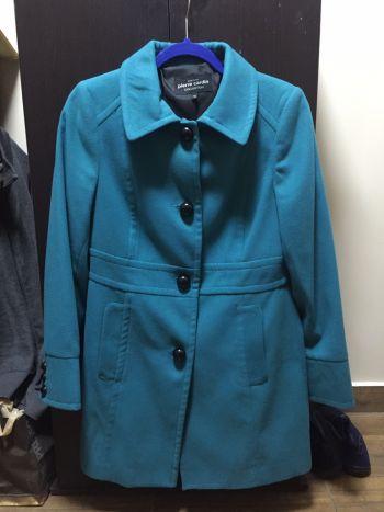 Abrigo verde turquesa