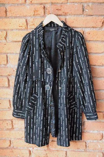 Abrigo largo tejido
