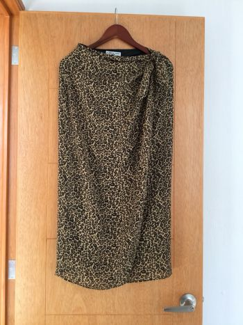 Falda larga animal print