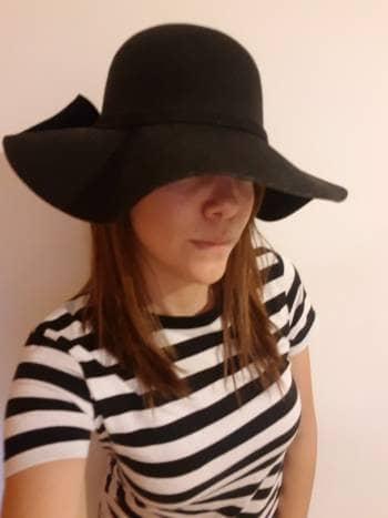 Sombrero gamusa negro