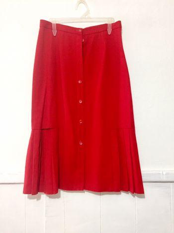 Falda midi con tablones vintage
