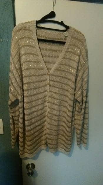Abrigo de Brillos suéter líneas