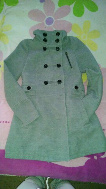 Abrigo color gris Pull & Bear