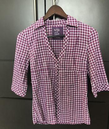 Camisa de cuadros morada